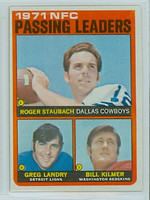 1972 Topps Football 4 NFC Passing leaders Excellent