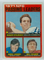 1972 Topps Football 4 NFC Passing leaders Excellent to Excellent Plus