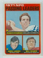 1972 Topps Football 4 NFC Passing leaders Excellent to Mint
