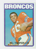 1972 Topps Football 24 Bill Thompson Denver Broncos Near-Mint