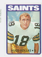 1972 Topps Football 296 Hugo Hollas HIGH NUMBER New Orleans Saints Excellent