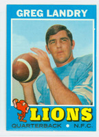 1971 Topps Football 11 Greg Landry ROOKIE Detroit Lions Excellent to Mint