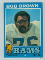 1971 Topps Football 16 Bob Brown Los Angeles Rams Near-Mint