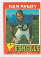 1971 Topps Football 22 Ken Avery Cincinnati Bengals Excellent to Mint