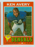 1971 Topps Football 22 Ken Avery Cincinnati Bengals Near-Mint