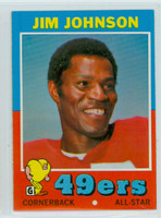 1971 Topps Football 24 Jim Johnson San Francisco 49ers Near-Mint