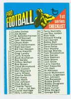 1971 Topps Football 27 Checklist One Excellent