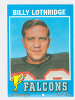 1971 Topps Football 29 Billy Lothridge Atlanta Falcons Near-Mint
