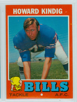 1971 Topps Football 33 Howard Kindig Buffalo Bills Near-Mint