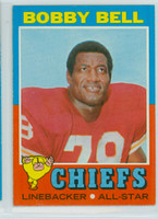 1971 Topps Football 35 Bobby Bell Kansas City Chiefs Excellent to Mint