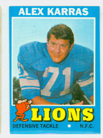 1971 Topps Football 41 Alex Karras Detroit Lions Excellent to Mint