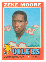 1971 Topps Football 43 Zeke Moore Houston Oilers Near-Mint Plus