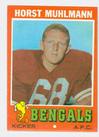 1971 Topps Football 49 Horst Muhlmann ROOKIE Cincinnati Bengals Excellent to Mint