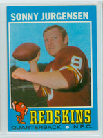1971 Topps Football 50 Sonny Jurgensen Washington Redskins Excellent to Mint
