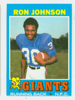 1971 Topps Football 51 Ron Johnson ROOKIE New York Giants Excellent to Mint