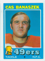 1971 Topps Football 52 Cas Banaszek San Francisco 49ers Excellent to Mint