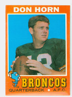 1971 Topps Football 59 Don Horn Denver Broncos Excellent to Mint