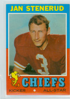 1971 Topps Football 61 Jan Stenerud Kansas City Chiefs Near-Mint Plus