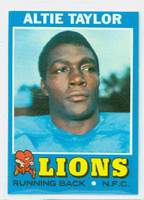 1971 Topps Football 62 Altie Taylor ROOKIE Detroit Lions Excellent to Excellent Plus