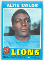 1971 Topps Football 62 Altie Taylor ROOKIE Detroit Lions Near-Mint Plus
