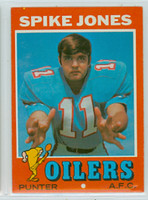 1971 Topps Football 64 Spike Jones Houston Oilers Near-Mint Plus