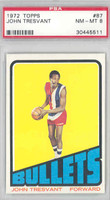 1972 Topps Basketball 87 John Tresvant Baltimore Bullets PSA 8 Near Mint to Mint