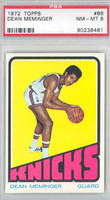 1972 Topps Basketball 88 Dean Meminger ROOKIE New York Knicks PSA 8 Near Mint to Mint
