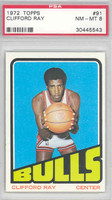 1972 Topps Basketball 91 Clifford Ray ROOKIE Chicago Bulls PSA 8 Near Mint to Mint