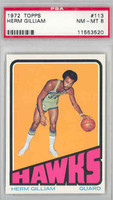 1972 Topps Basketball 113 Herm Gilliam Atlanta Hawks PSA 8 Near Mint to Mint
