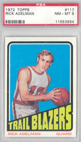 1972 Topps Basketball 117 Rick Adelman Portland Trail Blazers PSA 8 Near Mint to Mint