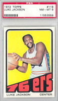 1972 Topps Basketball 118 Luke Jackson Philadelphia 76ers PSA 8 Near Mint to Mint