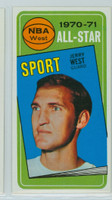 1970 Topps Basketball 107 Jerry West AS Los Angeles Lakers Near-Mint