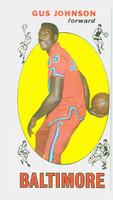 1969 Topps Basketball 12 Gus Johnson ROOKIE Baltimore Bullets Excellent to Mint