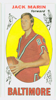 1969 Topps Basketball 26 Jack Marin ROOKIE Baltimore Bullets Excellent to Mint