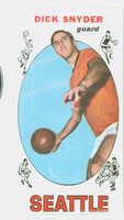 1969 Topps Basketball 73 Dick Snyder Seattle Super Sonics Excellent to Mint
