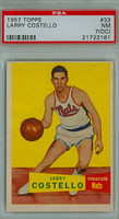 1957 Topps Basketball 33 Larry Costello ROOKIE Syracuse Nationals PSA 7 OC