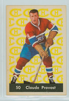 1961-62 Parkhurst Hockey 50 Claude Provost Montreal Canadiens Excellent to Excellent Plus