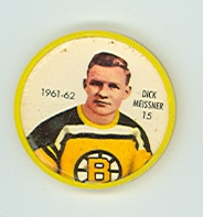 1961-62 Shiriff Hockey Coins 15 Dick Meissner Boston Bruins Excellent to Mint