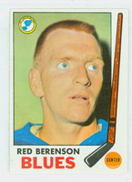 1969-70 Topps Hockey 20 Red Berenson St. Louis Blues Excellent to Mint