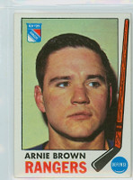 1969-70 Topps Hockey 34 Arnie Brown New York Rangers Excellent