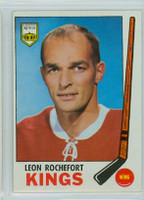 1969-70 Topps Hockey 105 Leon Rochefort Los Angeles Kings Excellent to Mint