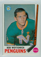 1969-70 Topps Hockey 113 Bob Woytowich Pittsburgh Penguins Excellent