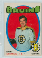 1971-72 OPC Hockey 176 Don Marcotte Boston Bruins Excellent to Excellent Plus