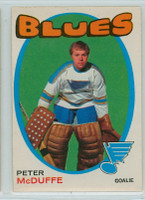 1971-72 OPC Hockey 225 Peter McDuffe St. Louis Blues Excellent to Excellent Plus