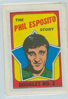 1971-72 OPC Story Booklets 2 Phil Esposito Boston Bruins Near-Mint