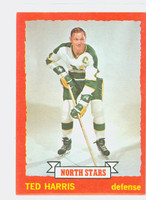 1973-74 Topps Hockey Ted Harris Minnesota North Stars Near-Mint Plus