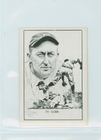1950 Callahan HOF Ty Cobb Detroit Tigers Excellent to Mint