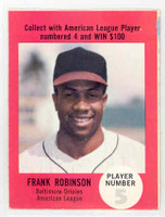1968 Atlantic Oil Frank Robinson Baltimore Orioles Excellent to Mint