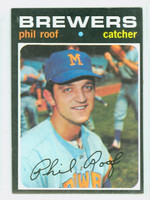1971 Topps Baseball 22 Phil Roof Milwaukee Brewers Excellent to Mint