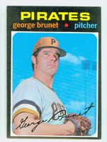 1971 Topps Baseball 73 George Brunet Pittsburgh Pirates Excellent to Mint
